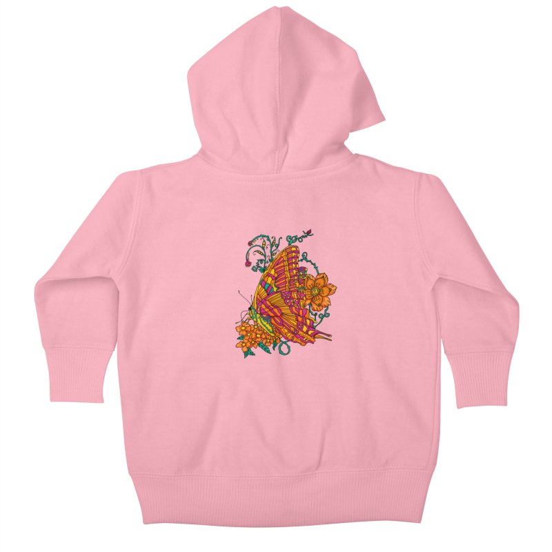 Tye Dye Butterfly Kids Baby Zip-Up Hoody by jandeangelis's Artist Shop