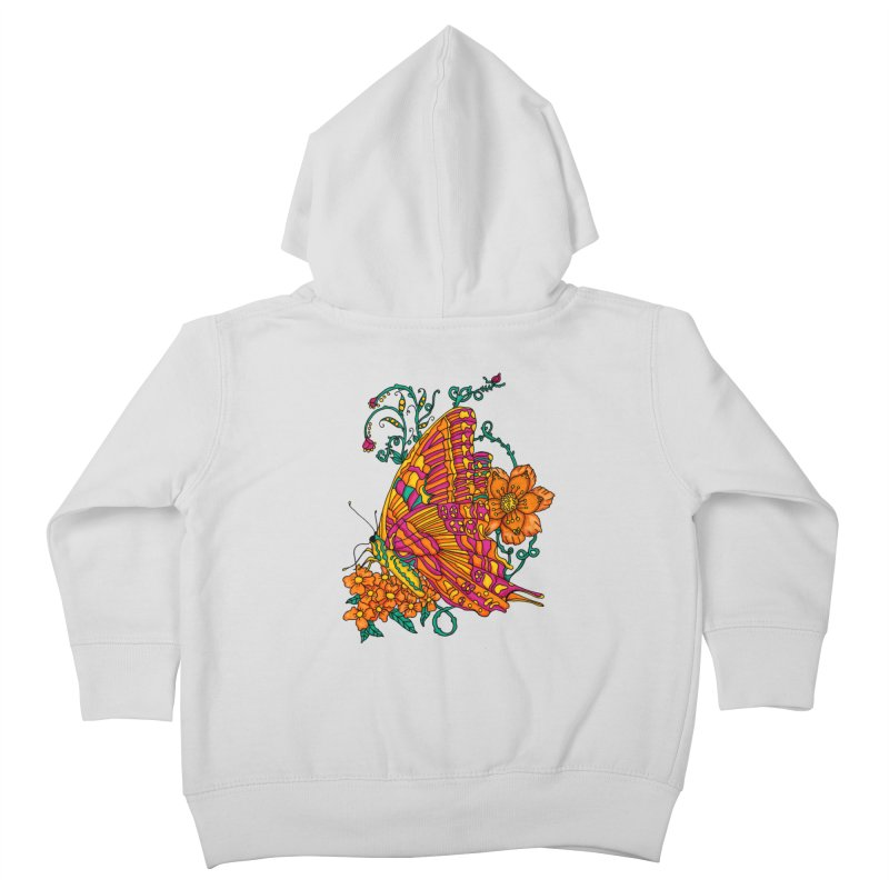 Tye Dye Butterfly Kids Toddler Zip-Up Hoody by jandeangelis's Artist Shop