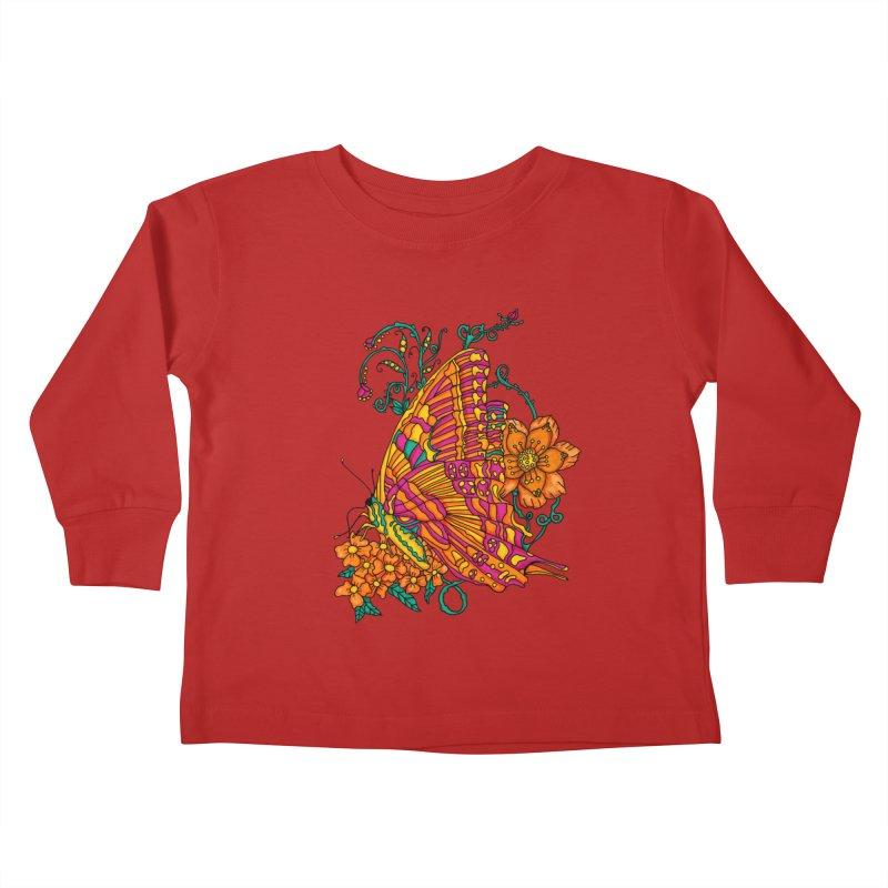 Tye Dye Butterfly Kids Toddler Longsleeve T-Shirt by jandeangelis's Artist Shop