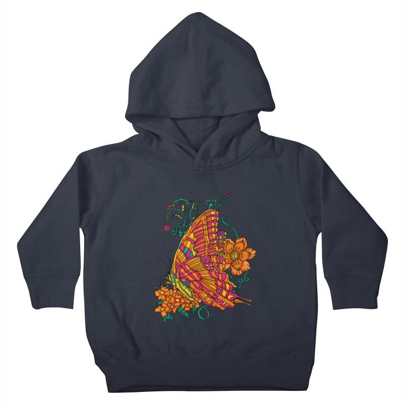 Tye Dye Butterfly Kids Toddler Pullover Hoody by jandeangelis's Artist Shop
