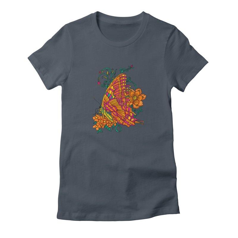 Tye Dye Butterfly Women's T-Shirt by jandeangelis's Artist Shop