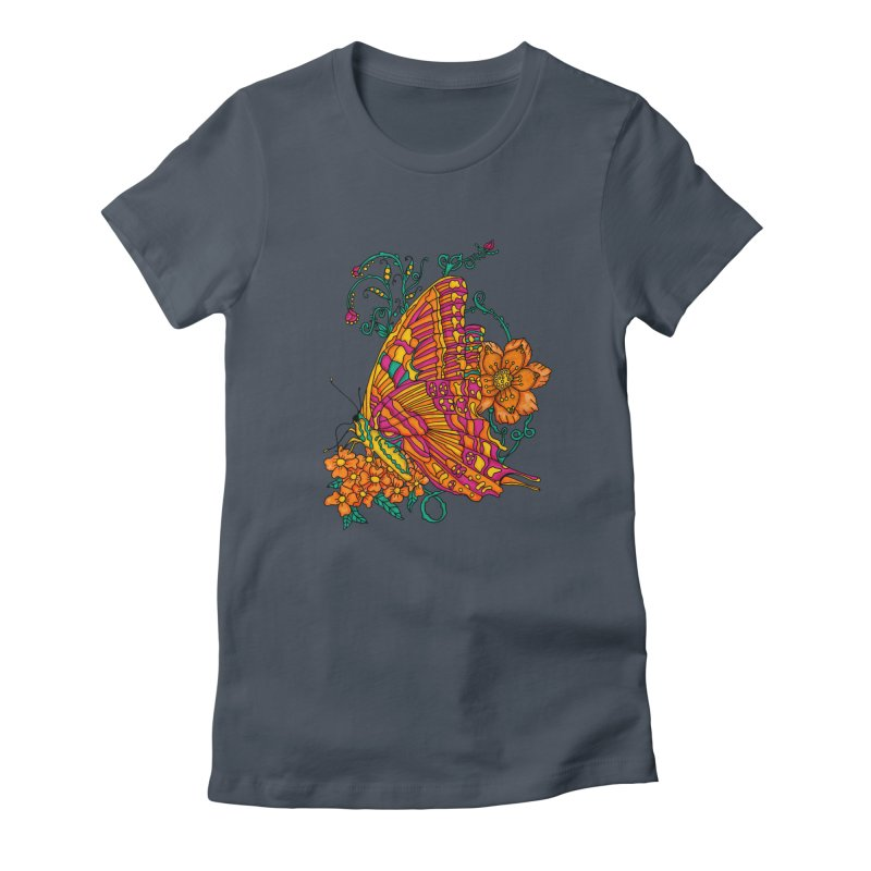 Tye Dye Butterfly Women's Fitted T-Shirt by jandeangelis's Artist Shop