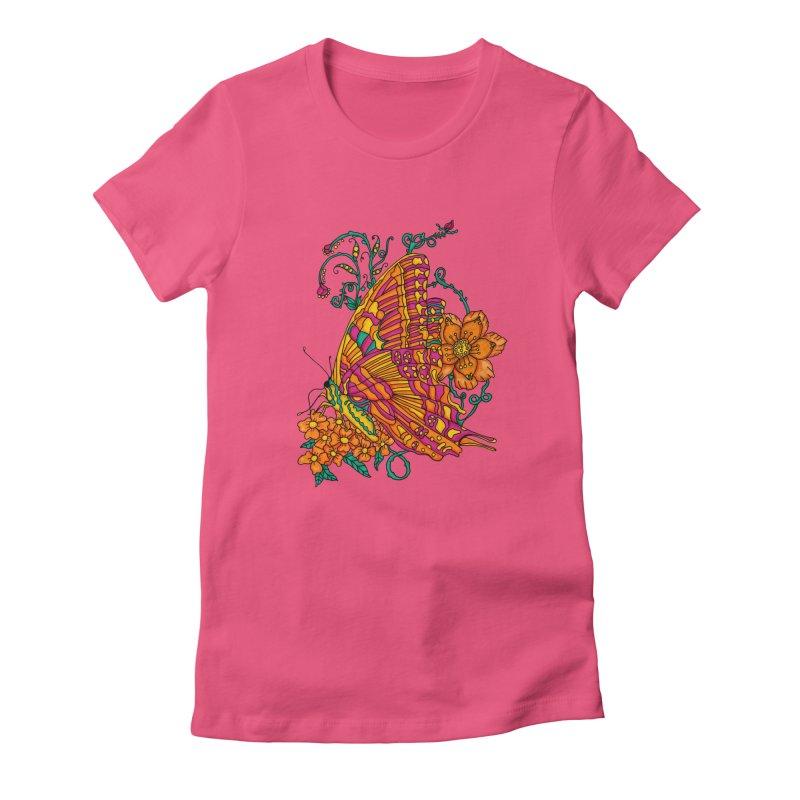 Tye Dye Butterfly Women's Fitted T-Shirt by jandeangelis's Artist Shop