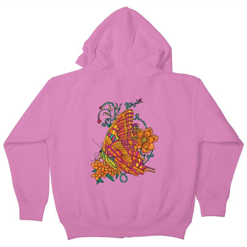 Tye Dye Butterfly Kids Zip-Up Hoody by jandeangelis's Artist Shop