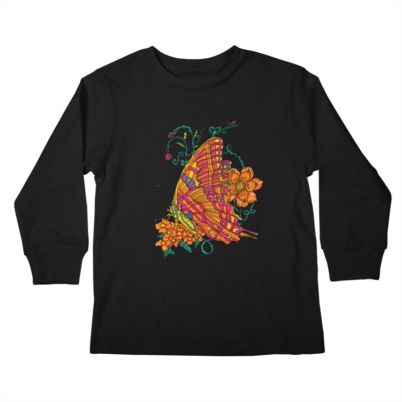 Tye Dye Butterfly Kids Longsleeve T-Shirt by jandeangelis's Artist Shop