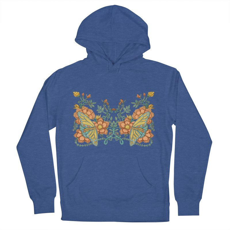 Butterflies in Flowers and Vines Women's Pullover Hoody by jandeangelis's Artist Shop
