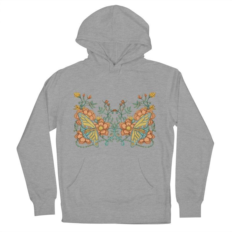 Butterflies in Flowers and Vines Men's Pullover Hoody by jandeangelis's Artist Shop