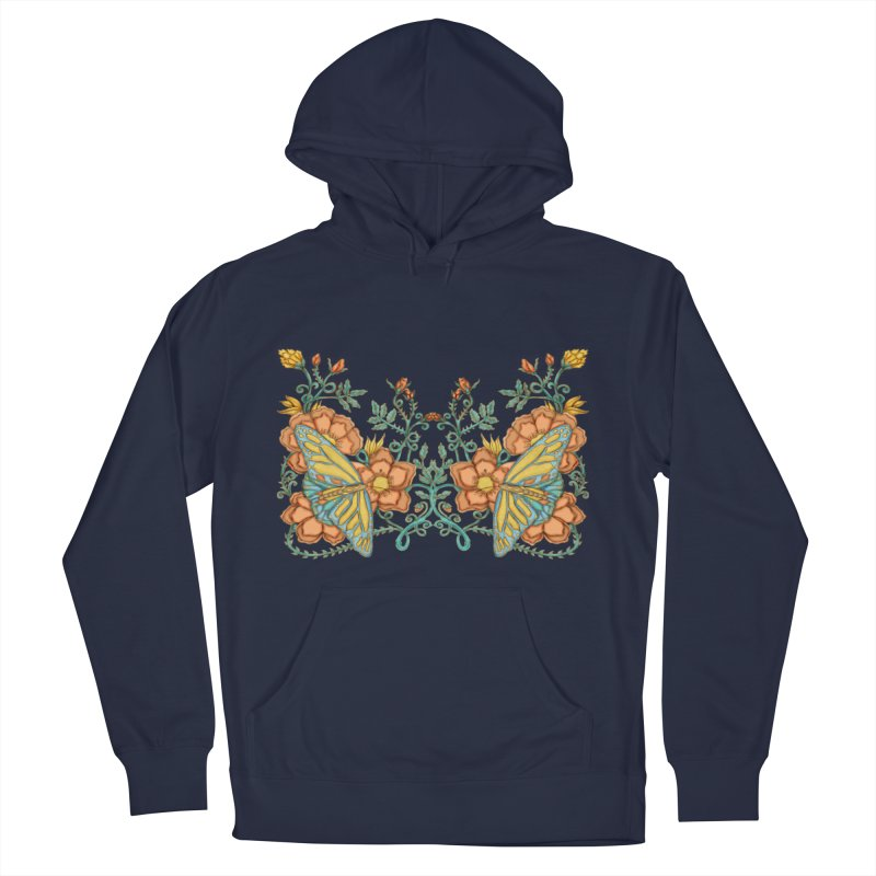 Butterflies in Flowers and Vines Men's Pullover Hoody by jandeangelis's Artist Shop