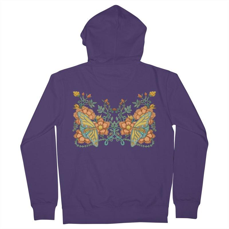 Butterflies in Flowers and Vines Women's Zip-Up Hoody by jandeangelis's Artist Shop