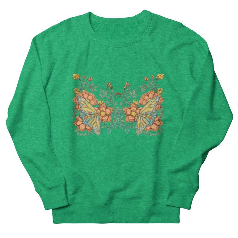Butterflies in Flowers and Vines Women's Sweatshirt by jandeangelis's Artist Shop