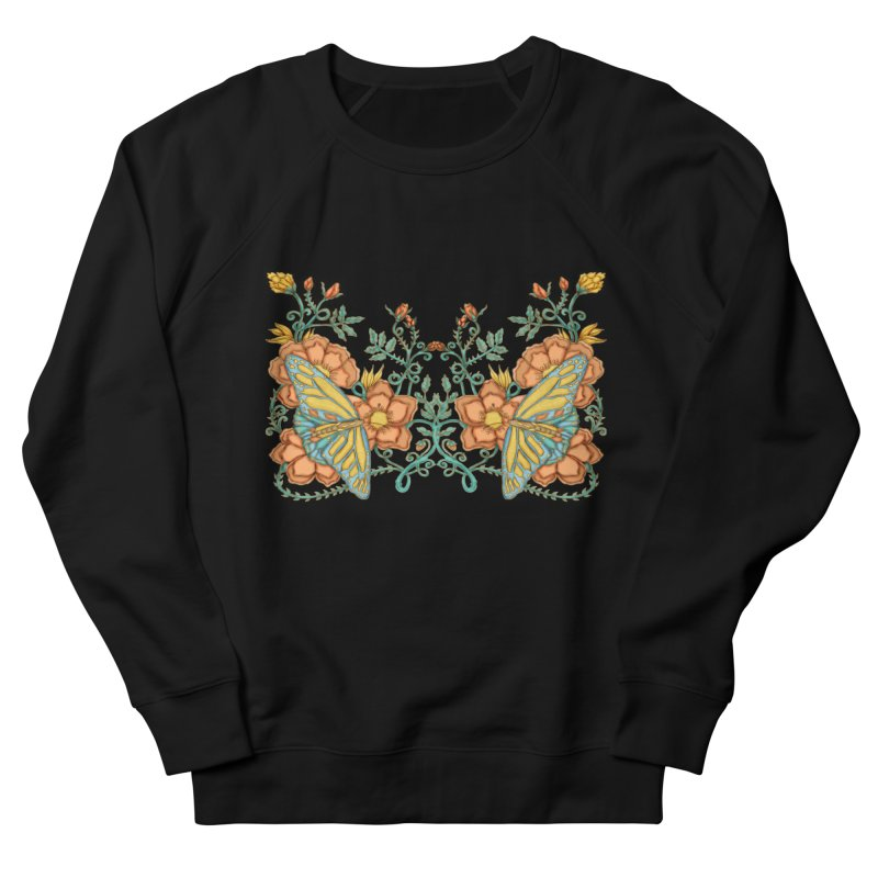 Butterflies in Flowers and Vines Women's Sweatshirt by jandeangelis's Artist Shop