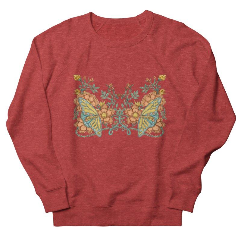 Butterflies in Flowers and Vines Men's Sweatshirt by jandeangelis's Artist Shop