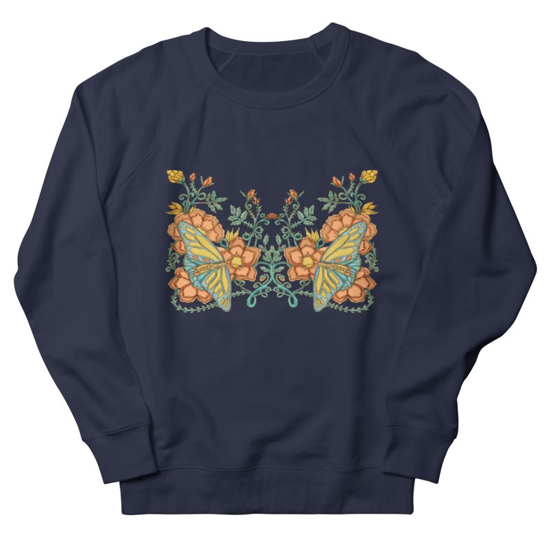 Butterflies in Flowers and Vines Men's Sweatshirt by jandeangelis's Artist Shop