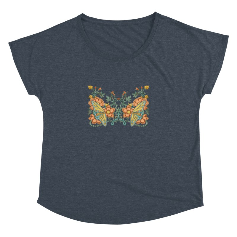 Butterflies in Flowers and Vines Women's Dolman by jandeangelis's Artist Shop