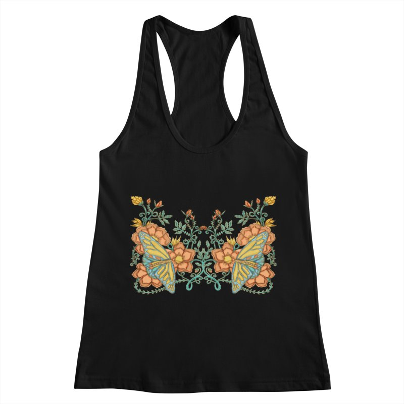 Butterflies in Flowers and Vines Women's Tank by jandeangelis's Artist Shop