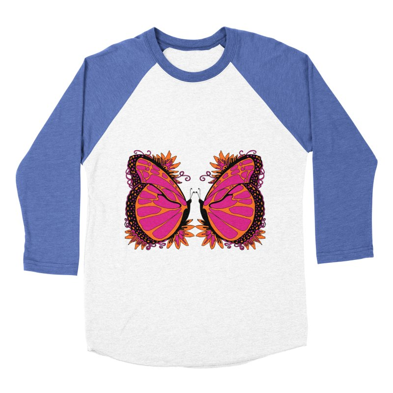 Pink and Orange Polka Dot Butterfly Women's Longsleeve T-Shirt by jandeangelis's Artist Shop