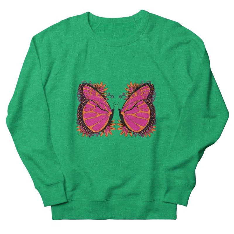 Pink and Orange Polka Dot Butterfly Women's Sweatshirt by jandeangelis's Artist Shop