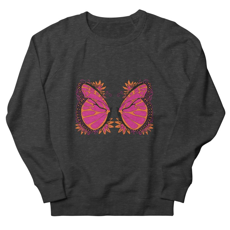 Pink and Orange Polka Dot Butterfly Women's Sweatshirt by jandeangelis's Artist Shop