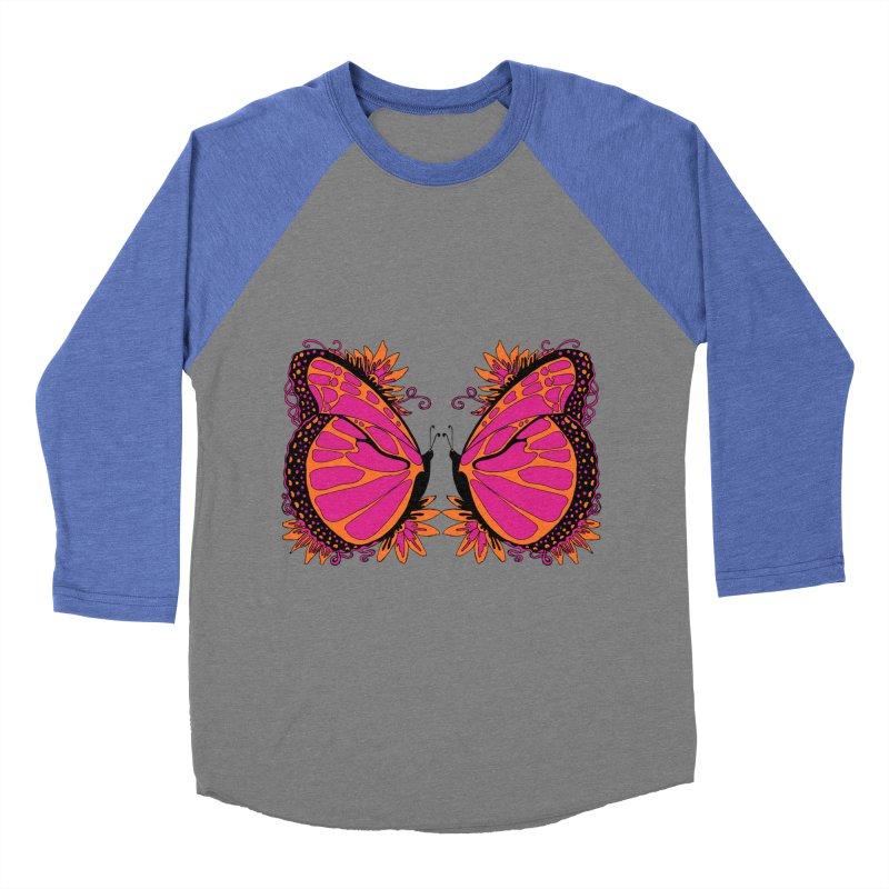 Pink and Orange Polka Dot Butterfly Women's Longsleeve T-Shirt by jandeangelis's Artist Shop