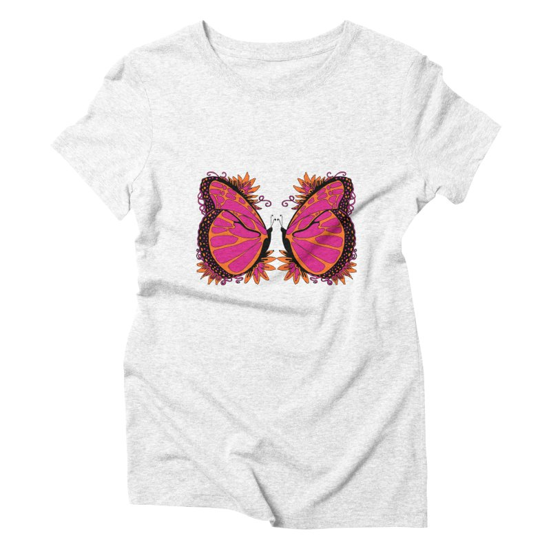 Pink and Orange Polka Dot Butterfly   by jandeangelis's Artist Shop