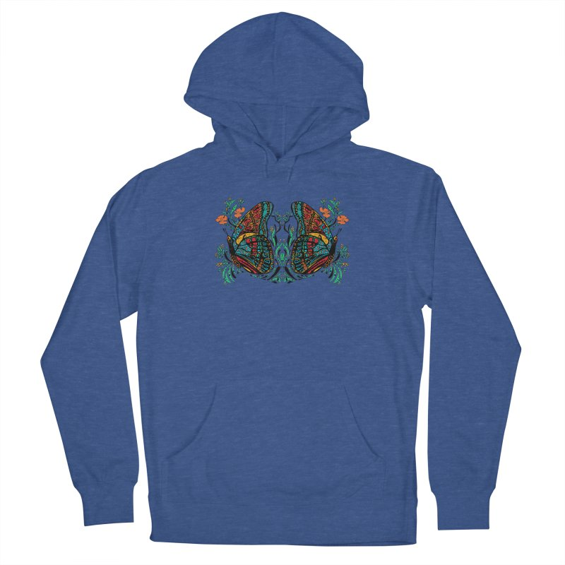 Turquoise Butterfly Men's Pullover Hoody by jandeangelis's Artist Shop