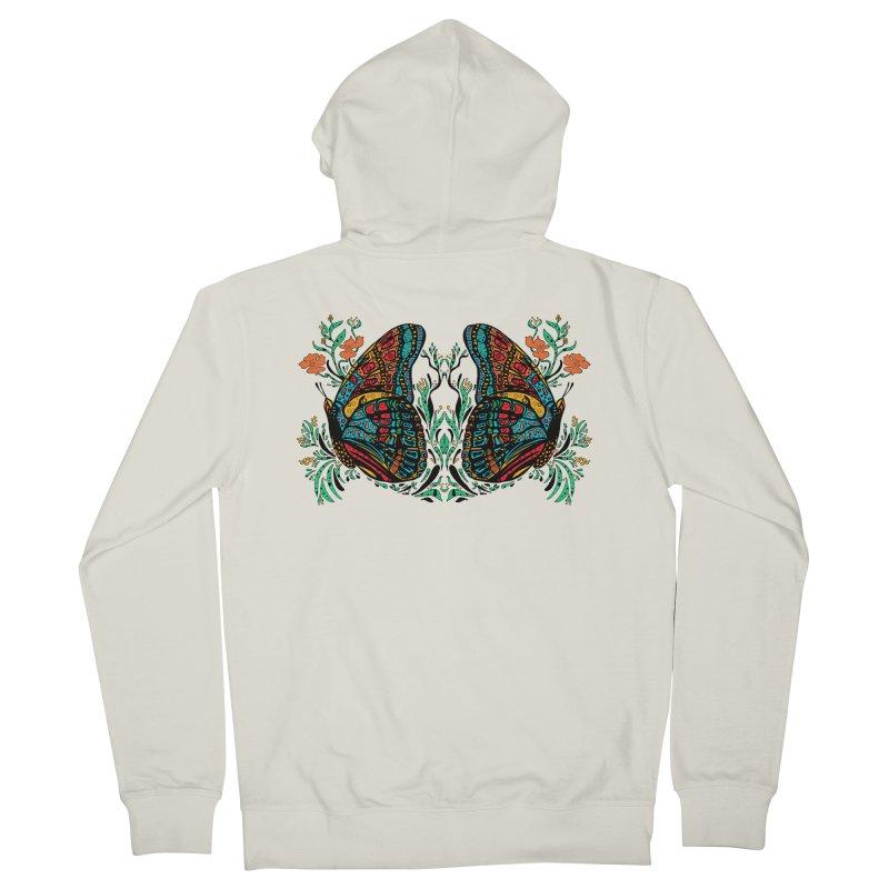 Turquoise Butterfly Men's Zip-Up Hoody by jandeangelis's Artist Shop