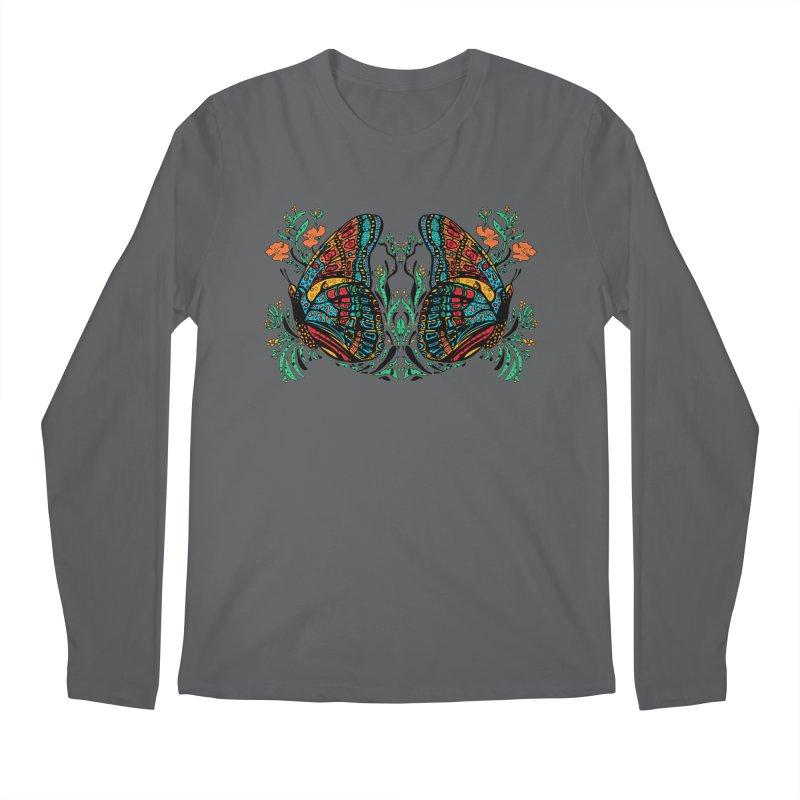 Turquoise Butterfly Men's Longsleeve T-Shirt by jandeangelis's Artist Shop