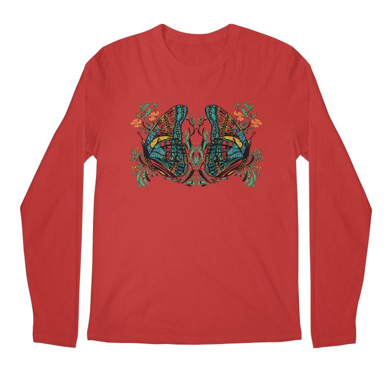 Turquoise Butterfly Men's Regular Longsleeve T-Shirt by jandeangelis's Artist Shop