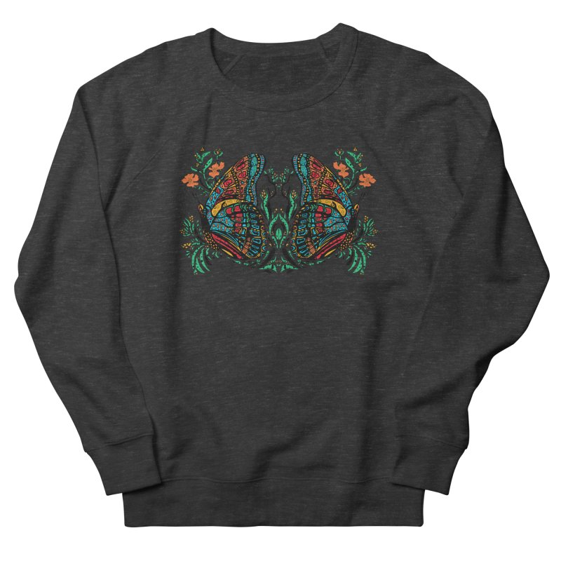 Turquoise Butterfly Women's French Terry Sweatshirt by jandeangelis's Artist Shop