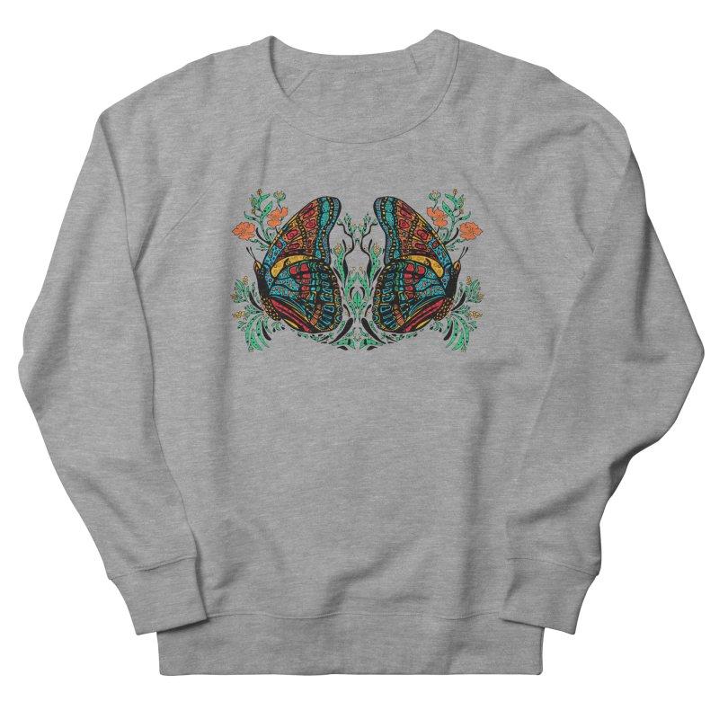 Turquoise Butterfly Women's Sweatshirt by jandeangelis's Artist Shop