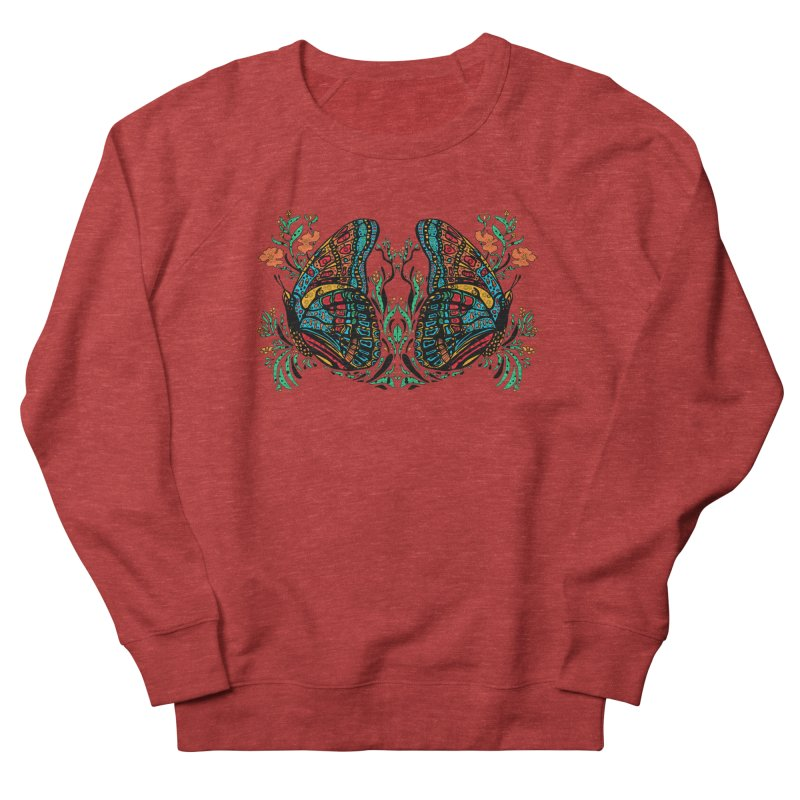 Turquoise Butterfly Men's French Terry Sweatshirt by jandeangelis's Artist Shop