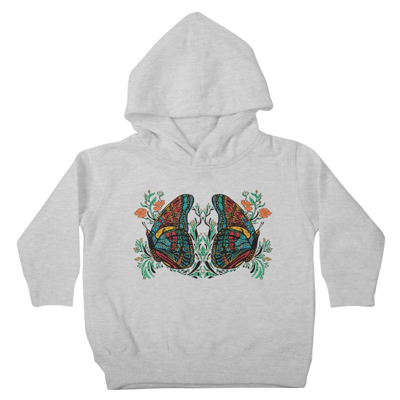 Turquoise Butterfly Kids Toddler Pullover Hoody by jandeangelis's Artist Shop