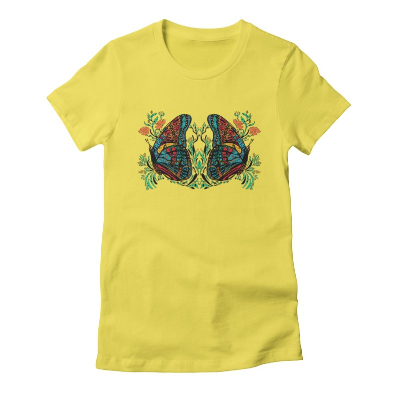 Turquoise Butterfly Women's T-Shirt by jandeangelis's Artist Shop
