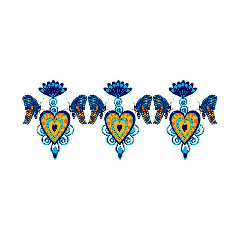 Jeweled Heart Butterflies None  by jandeangelis's Artist Shop