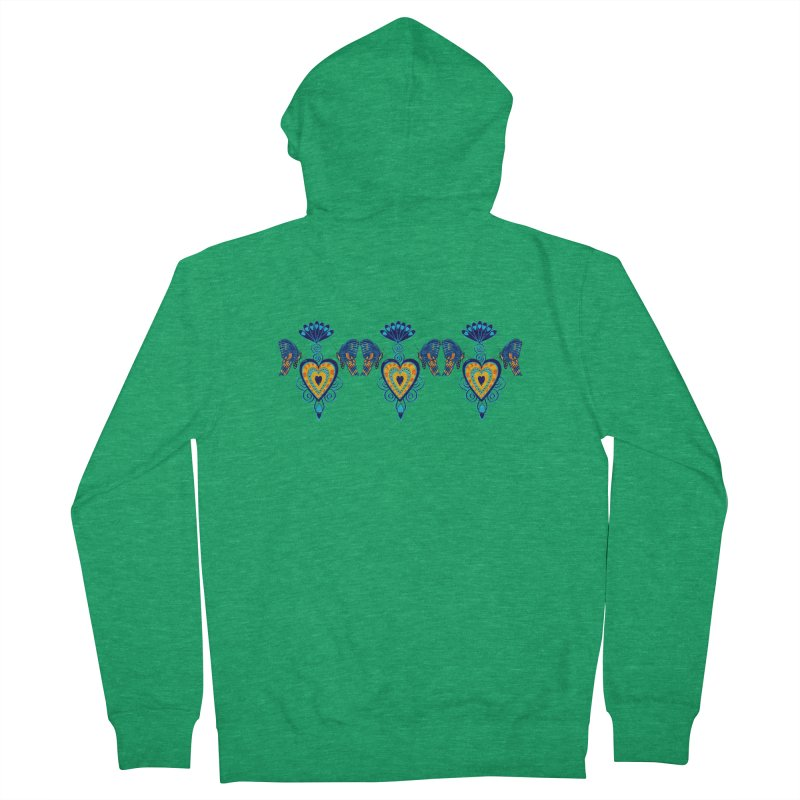 Jeweled Heart Butterflies Women's Zip-Up Hoody by jandeangelis's Artist Shop