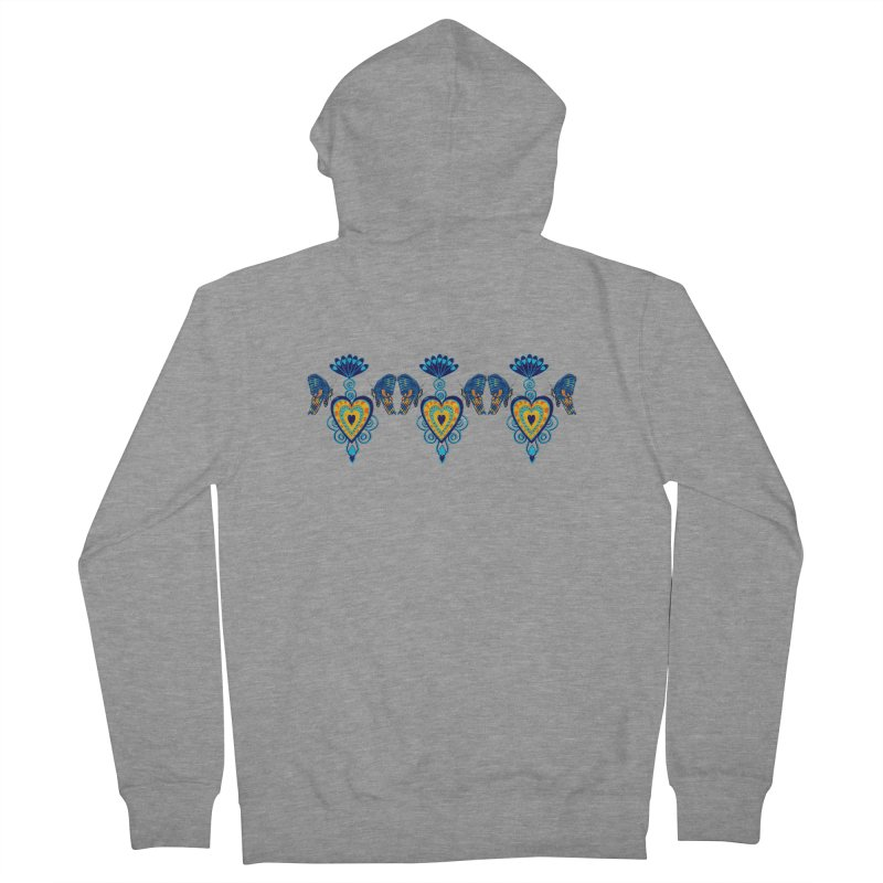 Jeweled Heart Butterflies Women's Zip-Up Hoody by jandeangelis's Artist Shop