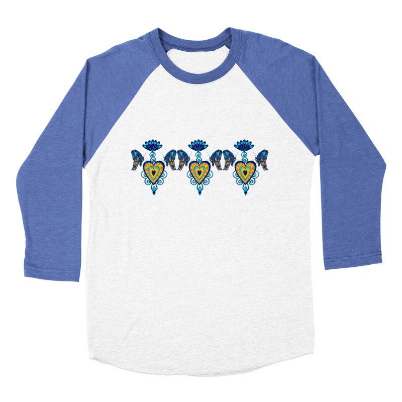 Jeweled Heart Butterflies Women's Baseball Triblend Longsleeve T-Shirt by jandeangelis's Artist Shop