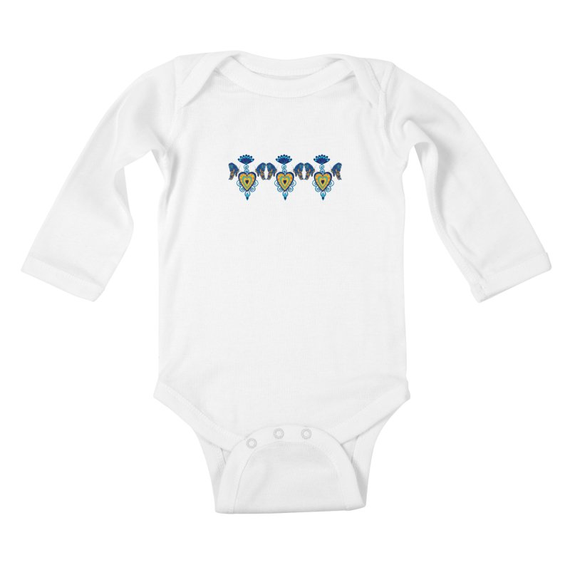 Jeweled Heart Butterflies Kids Baby Longsleeve Bodysuit by jandeangelis's Artist Shop