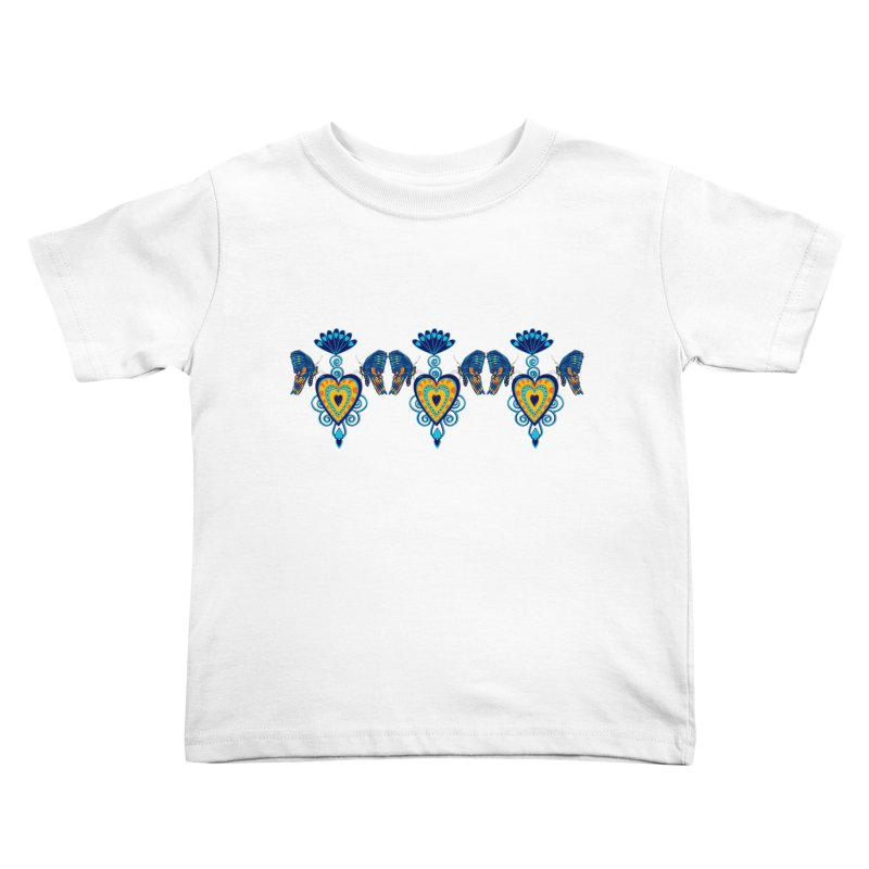 Jeweled Heart Butterflies Kids Toddler T-Shirt by jandeangelis's Artist Shop