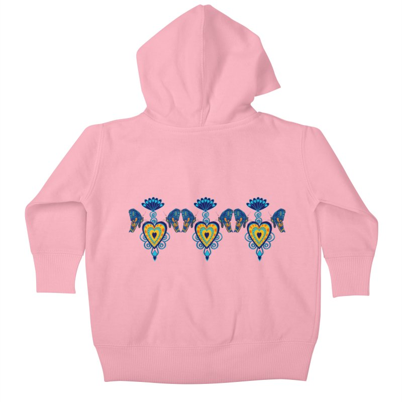 Jeweled Heart Butterflies Kids Baby Zip-Up Hoody by jandeangelis's Artist Shop