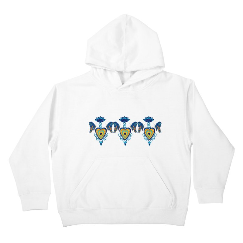 Jeweled Heart Butterflies Kids Pullover Hoody by jandeangelis's Artist Shop