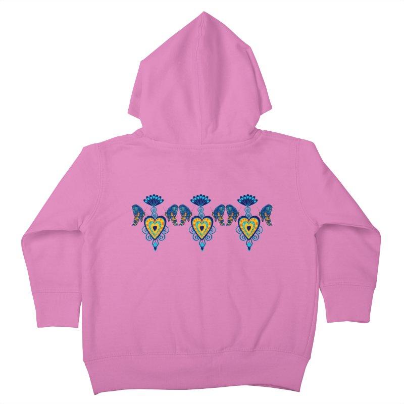 Jeweled Heart Butterflies Kids Toddler Zip-Up Hoody by jandeangelis's Artist Shop