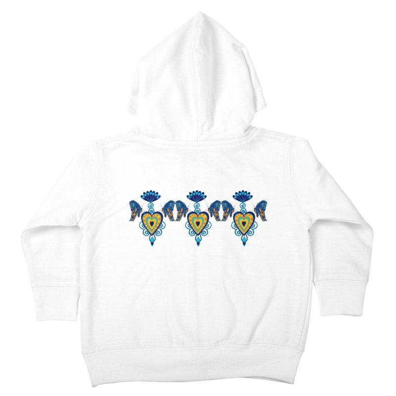 Jeweled Heart Butterflies Kids Toddler Zip-Up Hoody by jandeangelis's Artist Shop