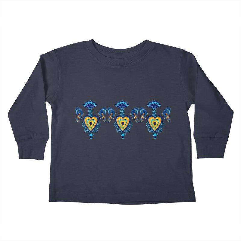 Jeweled Heart Butterflies Kids Toddler Longsleeve T-Shirt by jandeangelis's Artist Shop