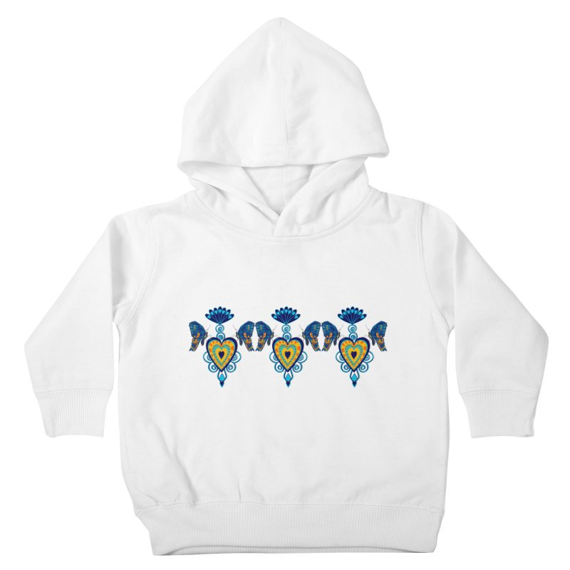 Jeweled Heart Butterflies Kids Toddler Pullover Hoody by jandeangelis's Artist Shop