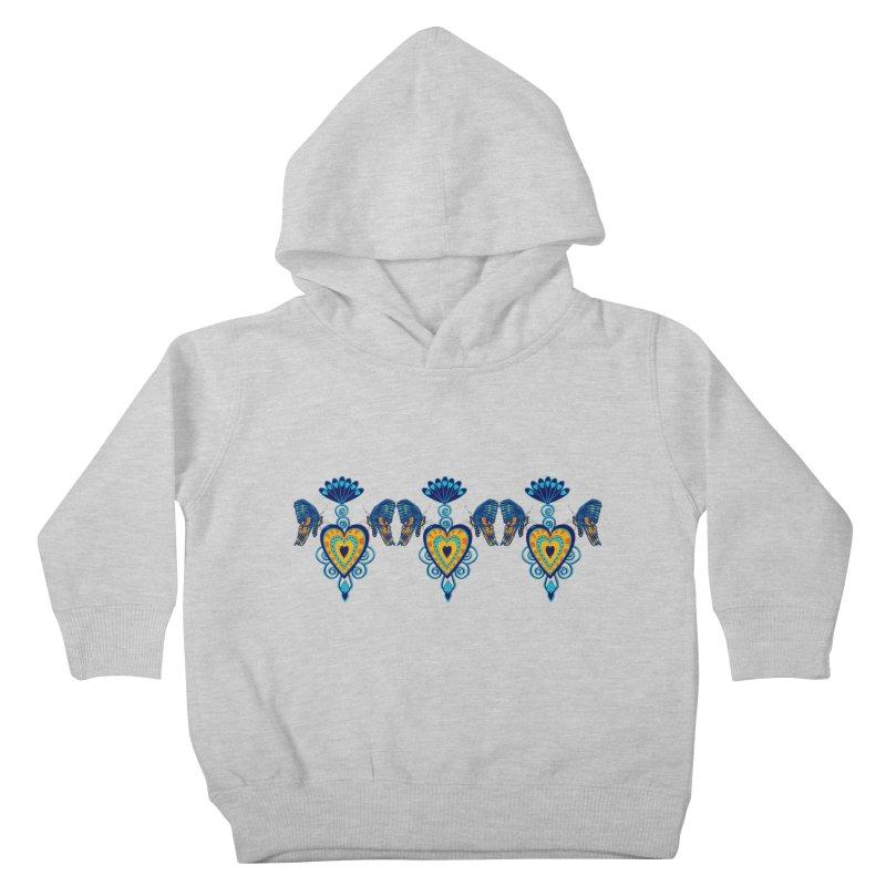 Jeweled Heart Butterflies Kids Toddler Pullover Hoody by jandeangelis's Artist Shop