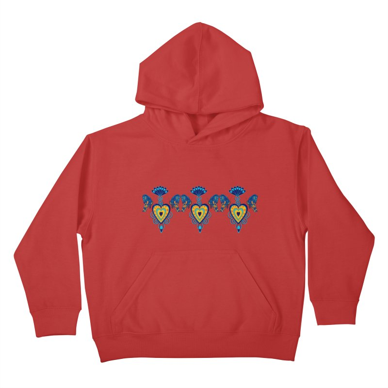 Jeweled Heart Butterflies Kids Pullover Hoody by jandeangelis's Artist Shop