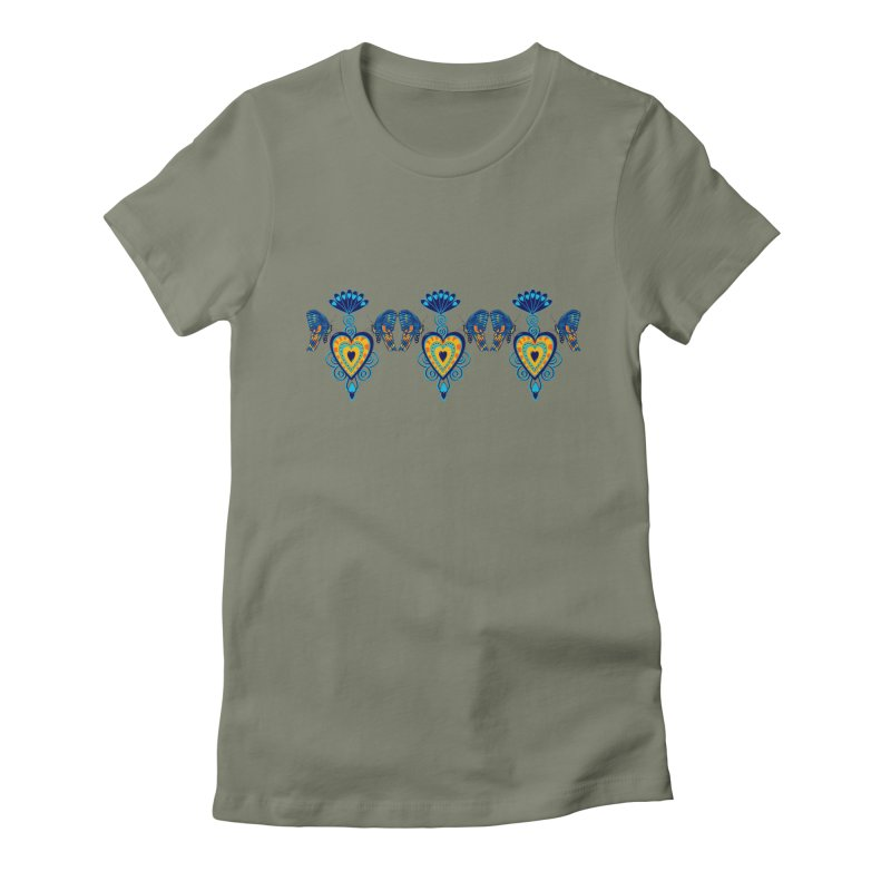 Jeweled Heart Butterflies Women's T-Shirt by jandeangelis's Artist Shop