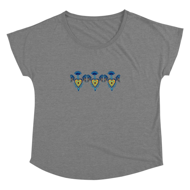 Jeweled Heart Butterflies Women's Dolman by jandeangelis's Artist Shop