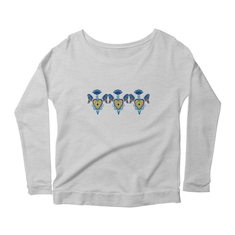 Jeweled Heart Butterflies Women's Scoop Neck Longsleeve T-Shirt by jandeangelis's Artist Shop
